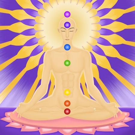 yoga samadhi Stock Vector - 12484114