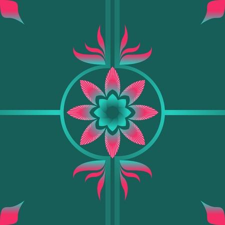 pink green flower fabric patterns