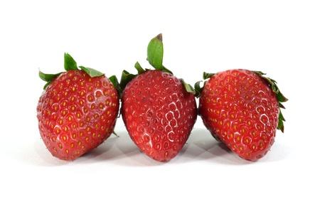 three strawberry Stock Photo