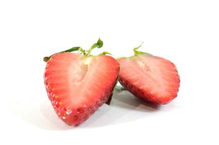 two piece strawberry Stock Photo