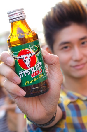 Red bau energy drink of thailand Stock Photo - 12717063