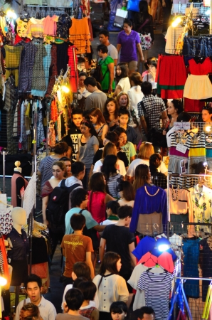 Night market 2 at  siam square bangkok thailand Editorial