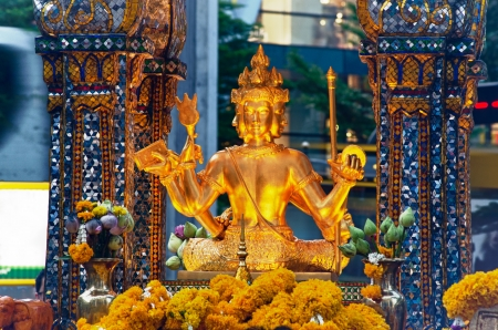 Shrine brahma at ratchaprasong Intersection bangkok thailand Stock Photo - 14392466