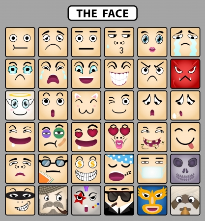 Face icons 1 Vector