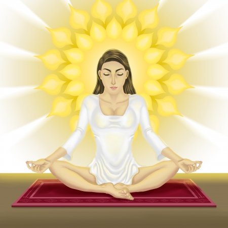 meditative absorption of young women Stock Photo - 16880812