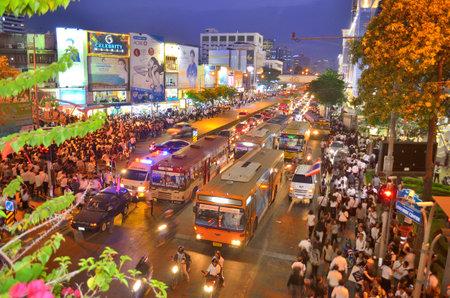 Thailand amnesty bill protests in Bangkok
