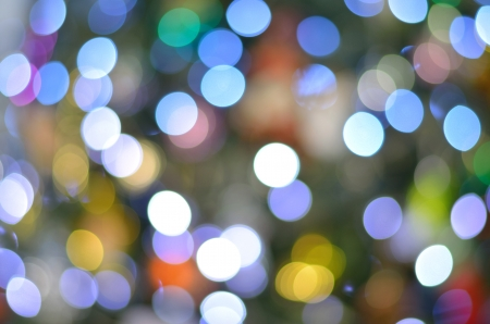 tree disc: variety colors bokeh from christmas tree Stock Photo