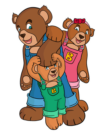 bear family wear jumper  Vector