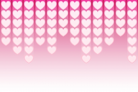 pink many heartbeat on gradient background Illustration