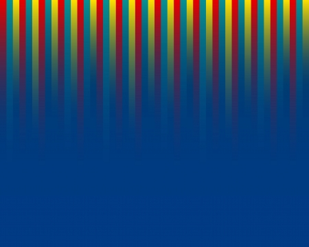 three color straight lines on blue background Illustration