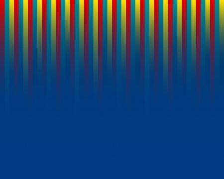tres l�neas rectas de color sobre fondo azul
