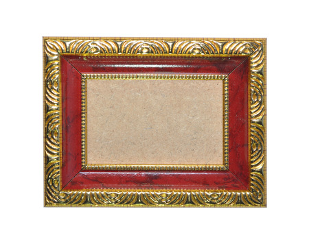 red and gold vintage frame isolated on white background