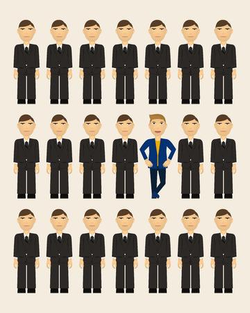 皆様のスマート - あなた自身であるとき実業家スタイル  イラスト・ベクター素材