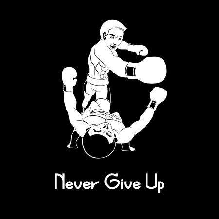 enemy: boxer never give up enemy Illustration