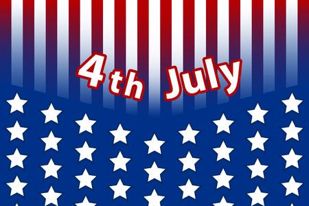 vector americana cartel d�a de la independencia