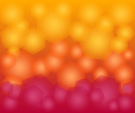 abstract yellow and red gradient hexagon bokeh background