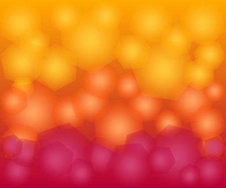 resumen gradiente de color amarillo y fondo rojo bokeh hex�gono