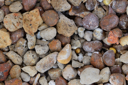 vesicular stone: close up pebble and pumice stone Stock Photo