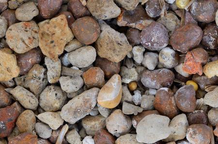 vesicular stone: close up pebble and pumice stone Stock Photo