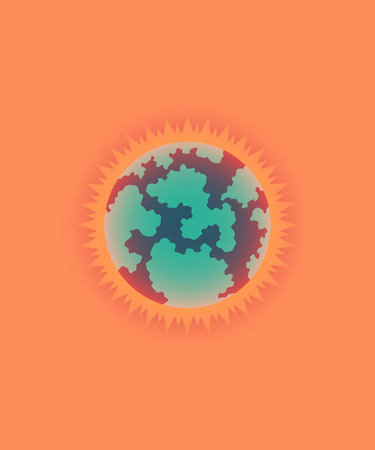 overheat: illustration of global warming, sun style Illustration