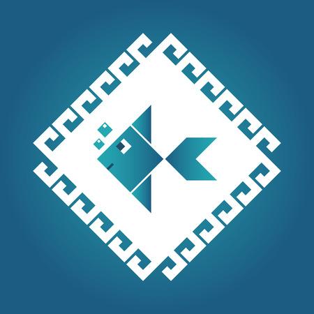 logo poisson: g�om�trie logo de poissons et de la conception de l'ic�ne