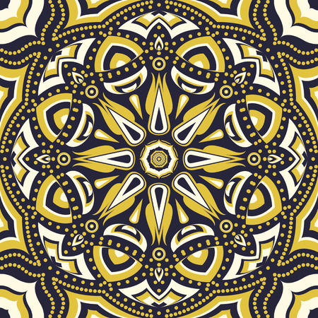 square ornamental pattern with yellow and violet flower. can use this pattern in design of bandana, neckerchief, scarf, shawl, and carpet