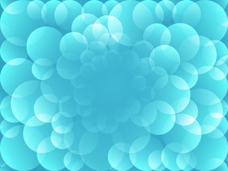 overlap: light blue bubble overlap background
