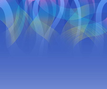 rainbow motion mesh overlap on blue  background