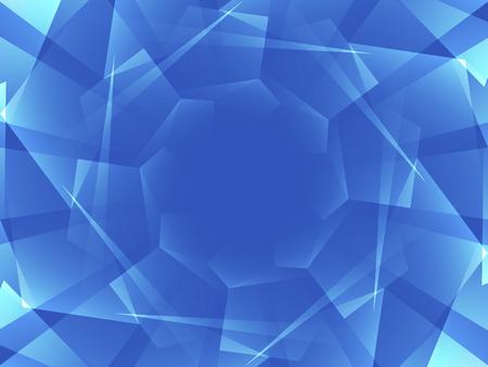 overlap: overlap geometric shape on blue background