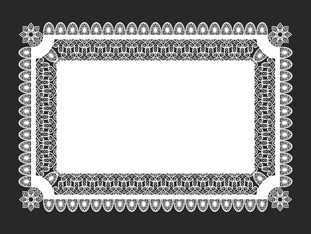 lace doily: classical white rectangle lace doily