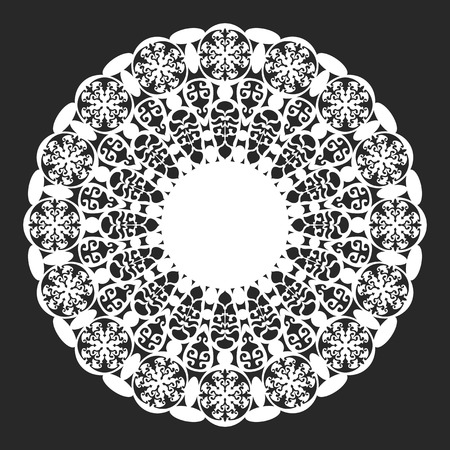 lace doily: classical white round lace doily