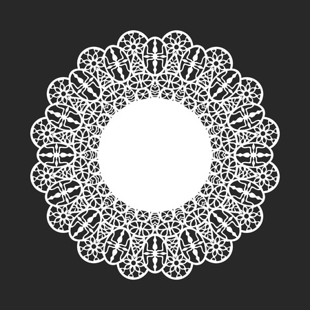 doily: classical white round lace doily