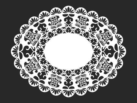 doily: classical white oval lace doily