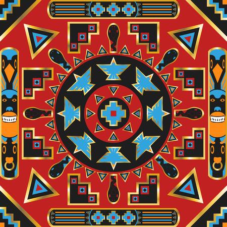 plaza modelo ornamental indio americano. puede utilizar este modelo en el dise�o del pa�uelo, pa�uelo, bufanda, chal, y la alfombra