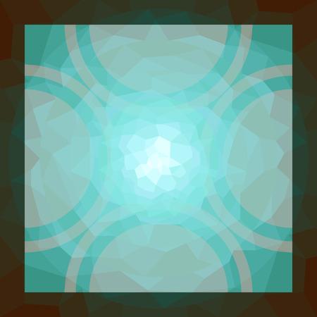 vetrate artistiche: piazza cerchio verde ornamentale modello in vetro colorato Vettoriali