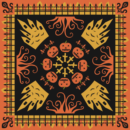 wraith: square ornamental pumpkin style pattern