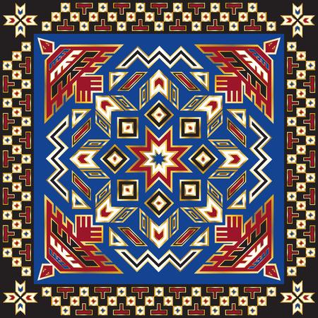 indio americano: plaza modelo ornamental indio americano Vectores