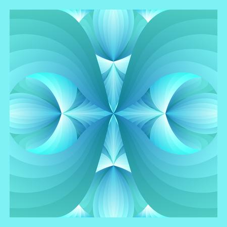 azul ornamental cuadrado y verde degradado patr�n de estilo contempor�neo