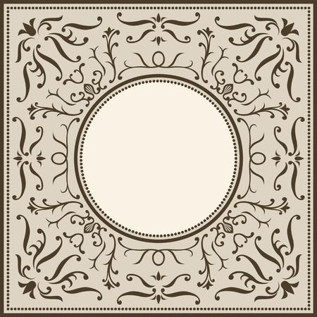 barque: classical circle vintage frame pattern Illustration