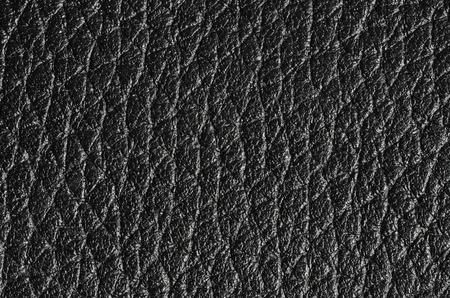 imitation leather: black imitation, leather texture background Stock Photo