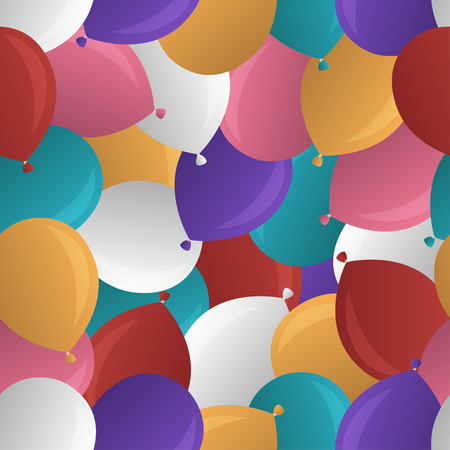 puerile: multicolor balloon pile seamless pattern