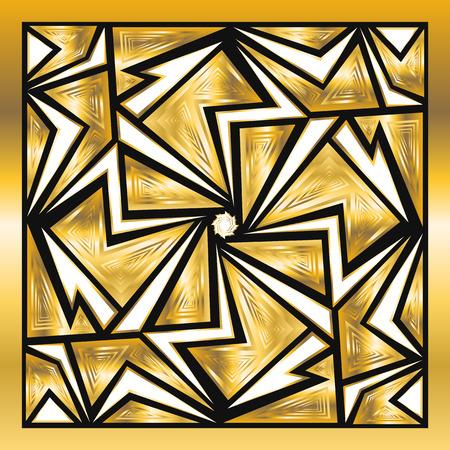 carpet: square ornamental golden scarf background Illustration