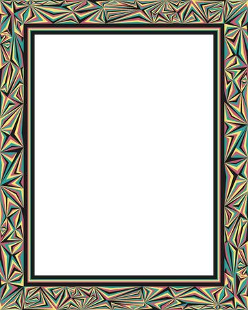 reggae: modern reggae frame style pattern
