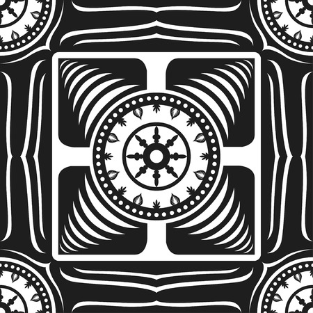 carpet: square ornamental black and white seamless pattern