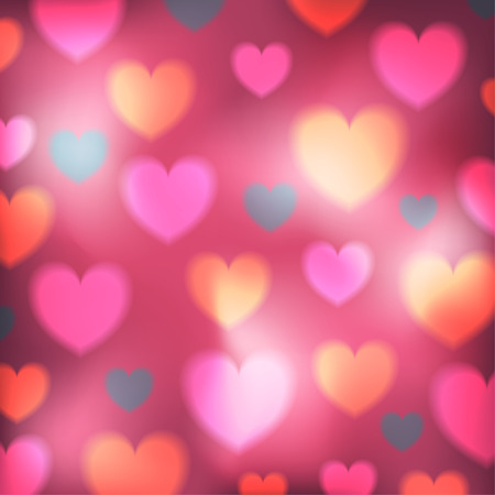 colorful heart: colorful heart bokeh valentine background