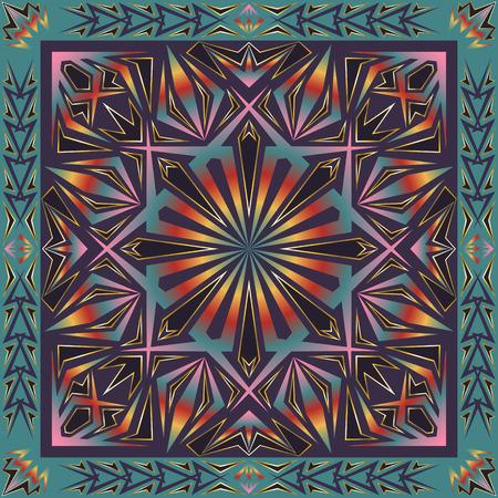 multi colors: multi colors gradient shape pattern on purple background