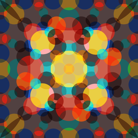 nakładki: multiple circle colors overlay pattern Ilustracja