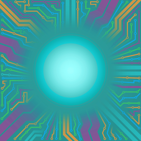 electronic circuit board: multicolor electronic circuit board interface background