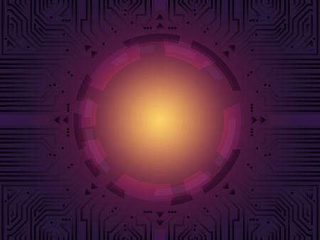 electronic circuit board: purple electronic circuit board interface background