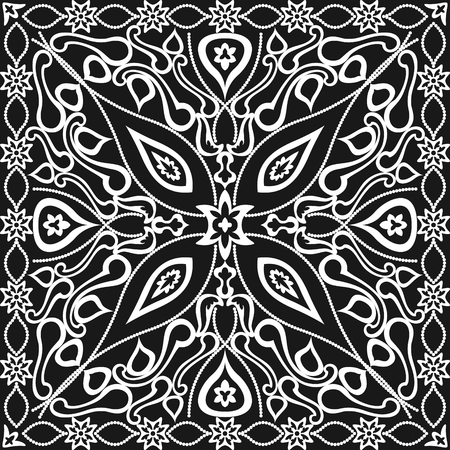 black and white contemporary asian style pattern